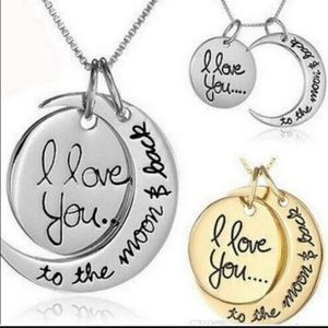 Jewelry - 3 Packs of I Love You to the moon & back necklaces